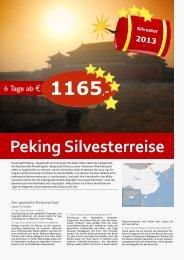 Peking Silvesterreise - TRAMEX Travel meets experience