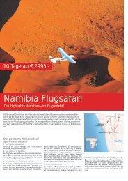 Namibia Flugsafari - TRAMEX Travel meets experience