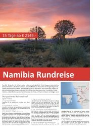 Namibia Rundreise - TRAMEX Travel meets experience