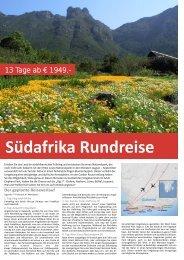 Südafrika Rundreise - TRAMEX Travel meets experience