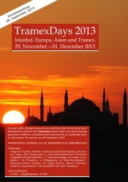 TramexDays 2013 - TRAMEX Travel meets experience