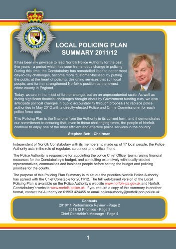 LOCAL POLICING PLAN SUMMARY 2011/12 - Hoveton
