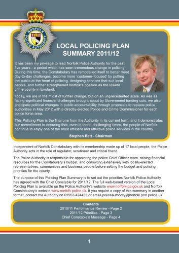 LOCAL POLICING PLAN SUMMARY 2011/12 - Hoveton