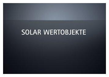 Solar Wertobjekte