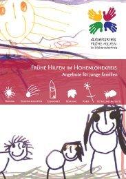 Frühe Hilfen im Hohenlohekreis Angebote für junge Familien