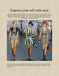 Express your self with style