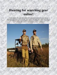 Hunting for searching gear online!