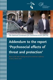Addendum to the report - National Coordinator for Security and ...