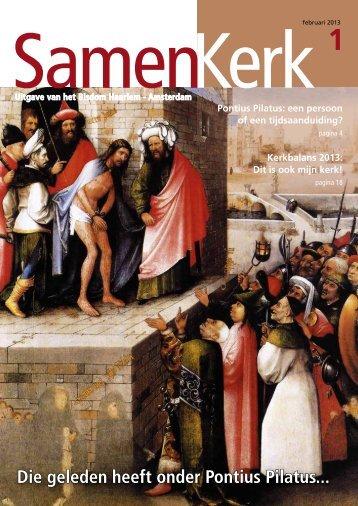Die geleden heeft onder Pontius Pilatus... - Bisdom Haarlem