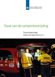 Staat van de rampenbestrijding - Nationaal Coördinator ...