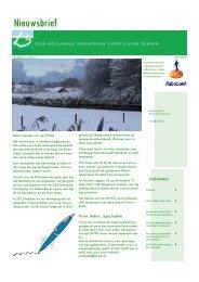 Nieuwsbrief 13 - Zuid Hollandse Vereniging van Kleine Kernen