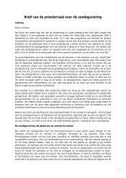 Klik hier voor de brief 'over de H. Eucharistie in ... - Bisdom Haarlem