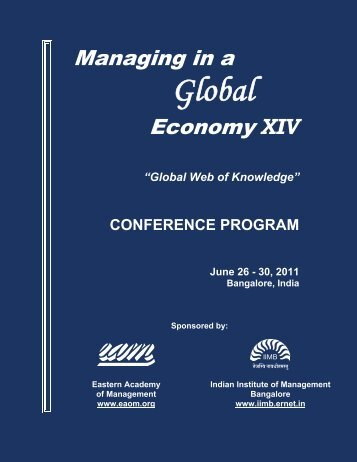 Global - EAM-I Conference - Managing in a Global Economy