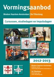 Vormingsaanbod 2012-2013 - Bisdom Haarlem
