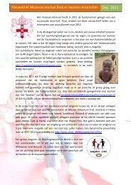 Het missiesecretariaat heeft in 2011 de ... - Bisdom Haarlem