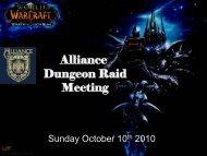 Alliance Dungeon Raid Meeting - Guild Launch