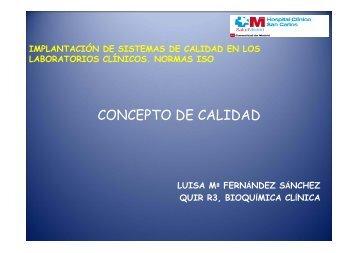 concepto de calidad - Asociación Española de Biopatología Médica