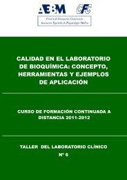 calidad en el laboratorio de bioquímica: concepto, herramientas y ...