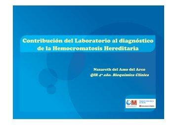 Contribución del Laboratorio al diagnóstico de la Hemocromatosis ...