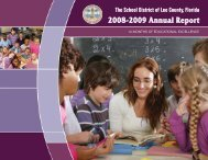 2008/09 Annual Report - Communications - Lee County School District