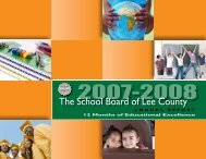 2007/08 Annual Report - Communications - Lee County School District