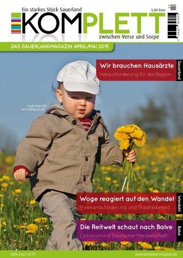Komplett - Das Sauerlandmagazin April 2015