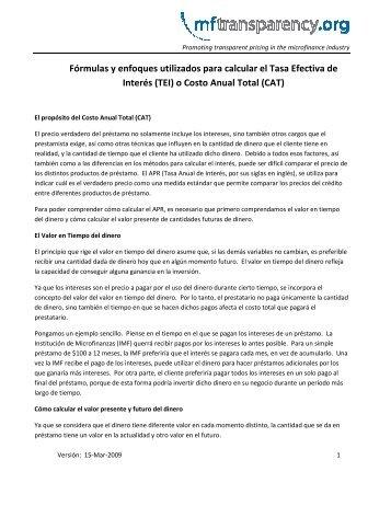 Fórmulas y enfoques utilizados para calcular el Tasa Efectiva de ...