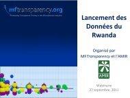 Lancement des Données du Rwanda - MFTransparency.org