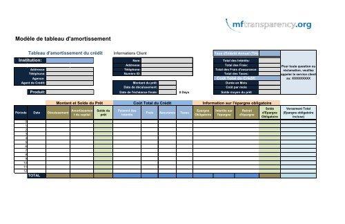 Modele De Tableau D Amortissement Mftransparency Org