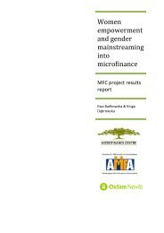 Women empowerment and gender mainstreaming into ...