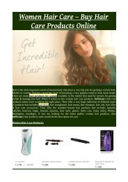 Women Hair Care – Buy Hair Care Products Online