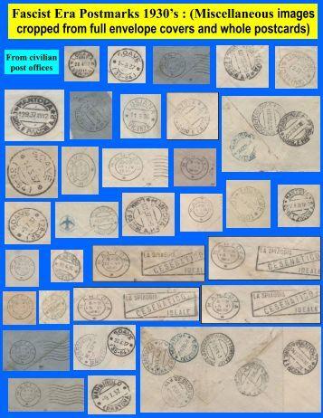 Fascist Era Postmarks 1930's : (Miscellaneous images ... - Leopolis.us
