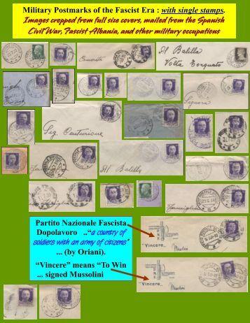 Military Postmarks of the Fascist Era : with single ... - Leopolis.us