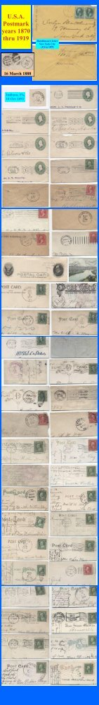 U.S.A. Postmark years 1870 - Leopolis.us