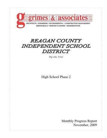 High School Phase 2 Monthly Progress Report November, 2009