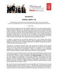 Music Director Jeanne Lamon Biography - Tafelmusik