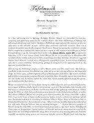 Mozart Requiem Notes - Tafelmusik