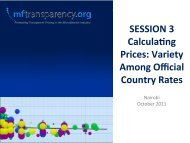 SESSION 3 CalculaLng Prices: Variety Among Official Country Rates