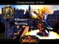 Alliance Dungeon Raid Meeting - Guild Launch