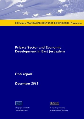Private Sector and Economic Development in East Jerusalem Final ...
