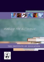 The Institute of Education - FT Brochure