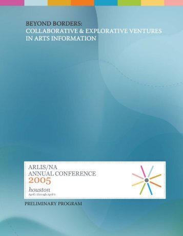 Preliminary Program - ARLIS/NA/TXMX