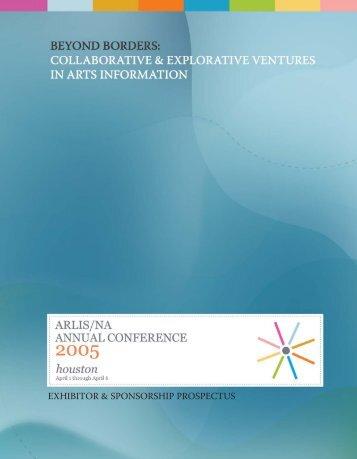 Exhibitor & Sponsorship Prospectus - ARLIS/NA/TXMX