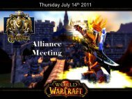 Alliance Dungeon Raid Meeting - Welcome to Guild Launch