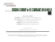 2012-13 4-H Calendar updated 9-26-12 - Brazos