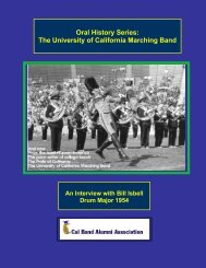 INTERVIEW WITH BILL ISBELL - Cal Band Alumni Association