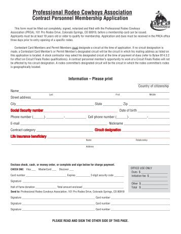 2012 PRCA Contract Personnel Membership application.indd