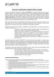 Postupy zjišťování a řízení střetu zájmů - ATLANTIK finanční trhy, a.s.