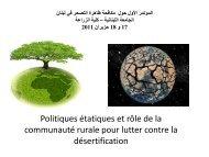 Presentation seminaire desertification