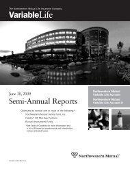 Semi-Annual Report - Northwestern Mutual